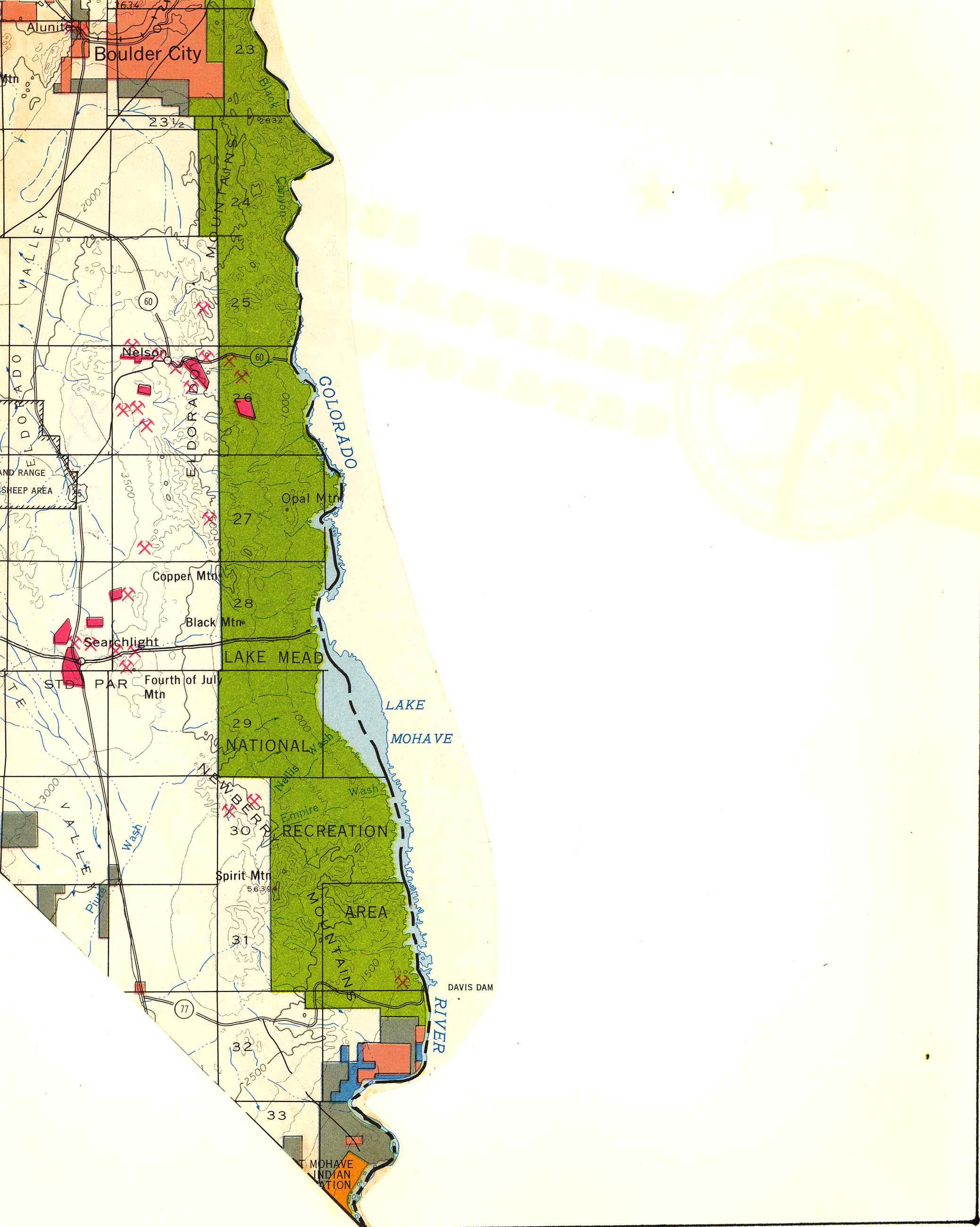 Map [2] 35:114 - Bullhead City - 1972
