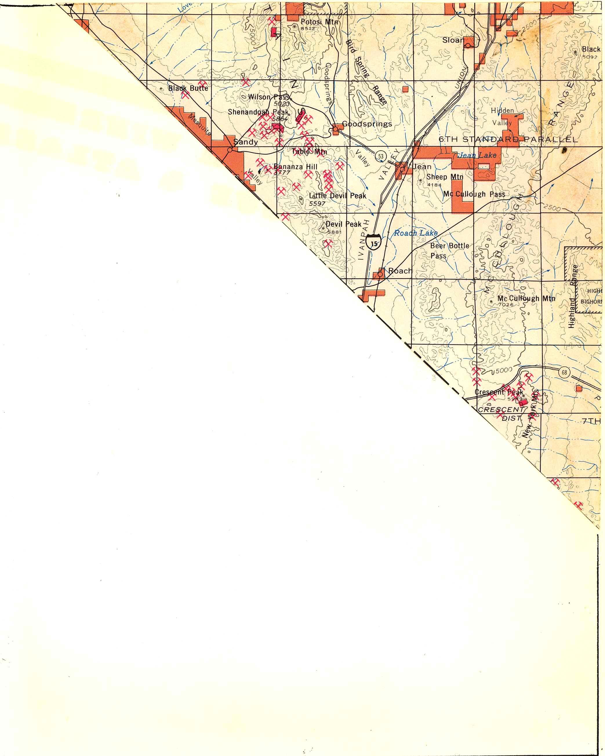 Map [2] 35:115 - Ivanpah - 1972