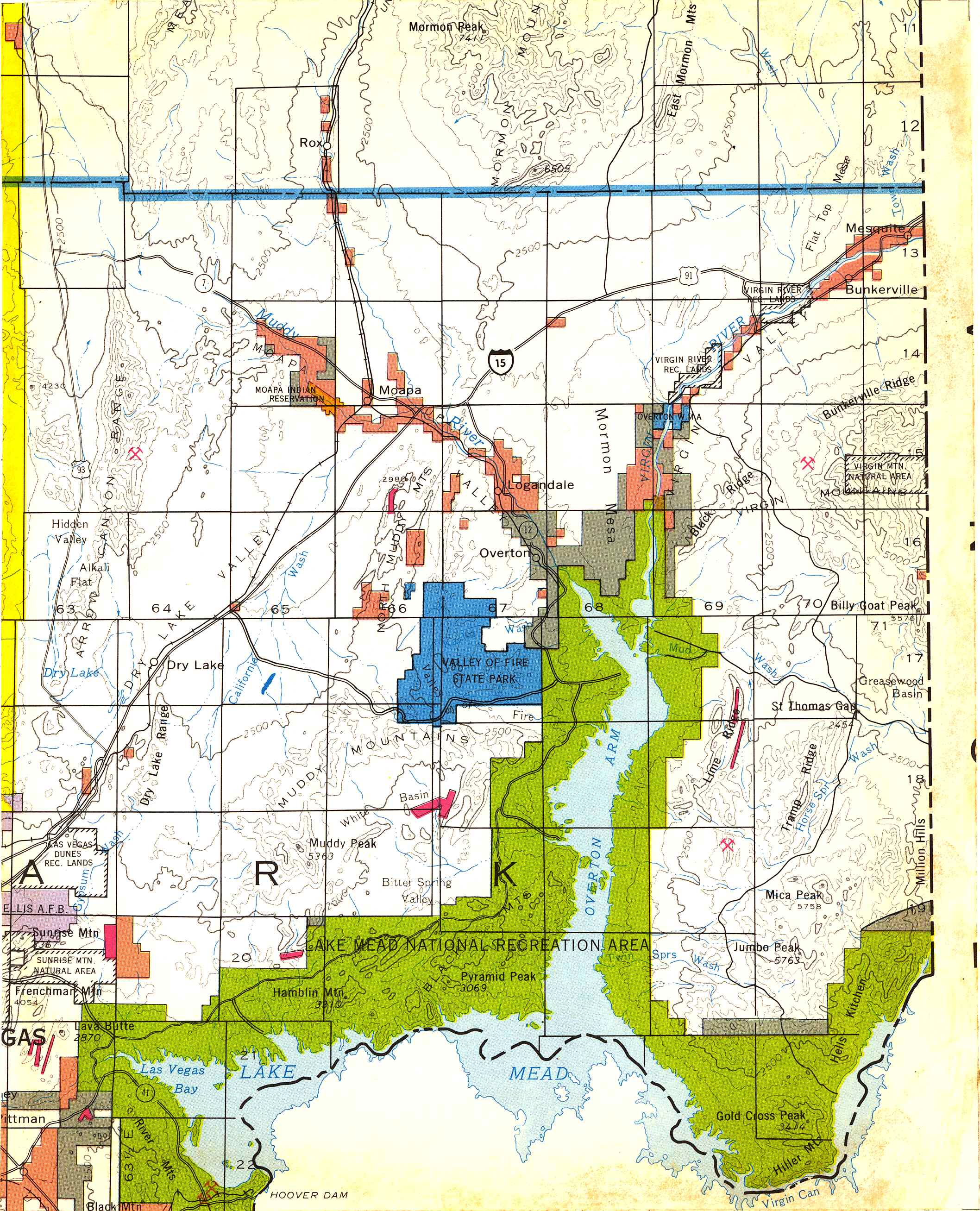 Map [2] 36:114 - Lake Mead - 1972