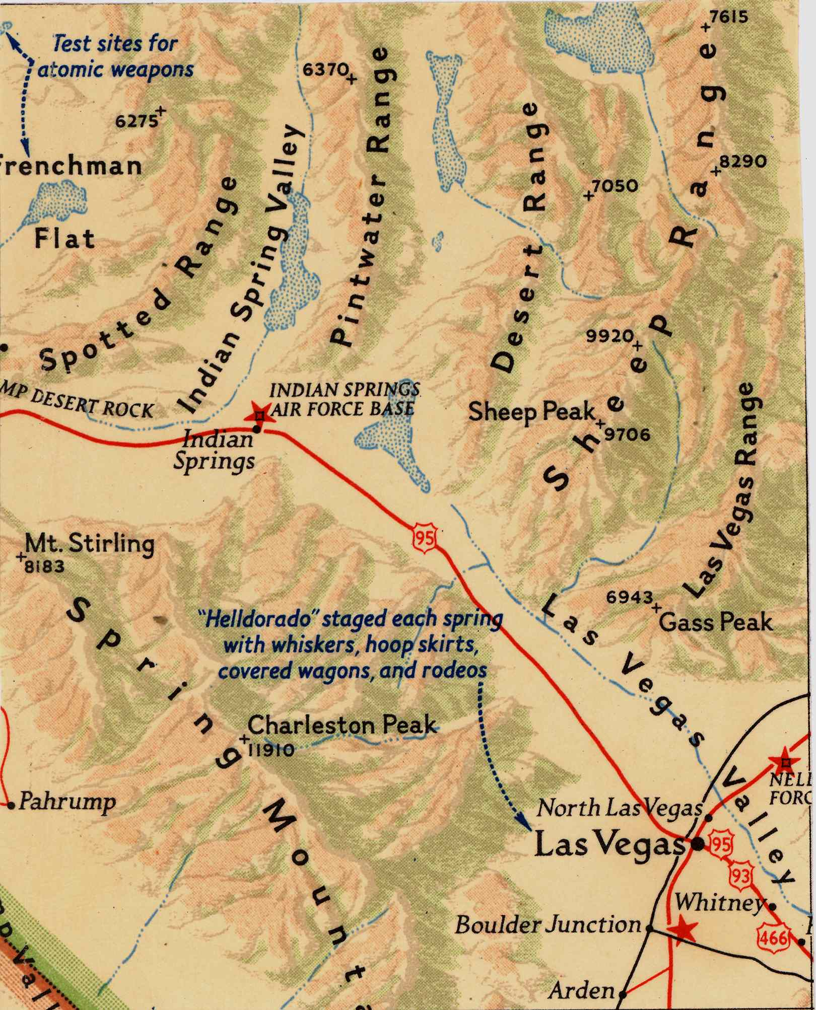 Map [2] 36:115 - Las Vegas - 1954