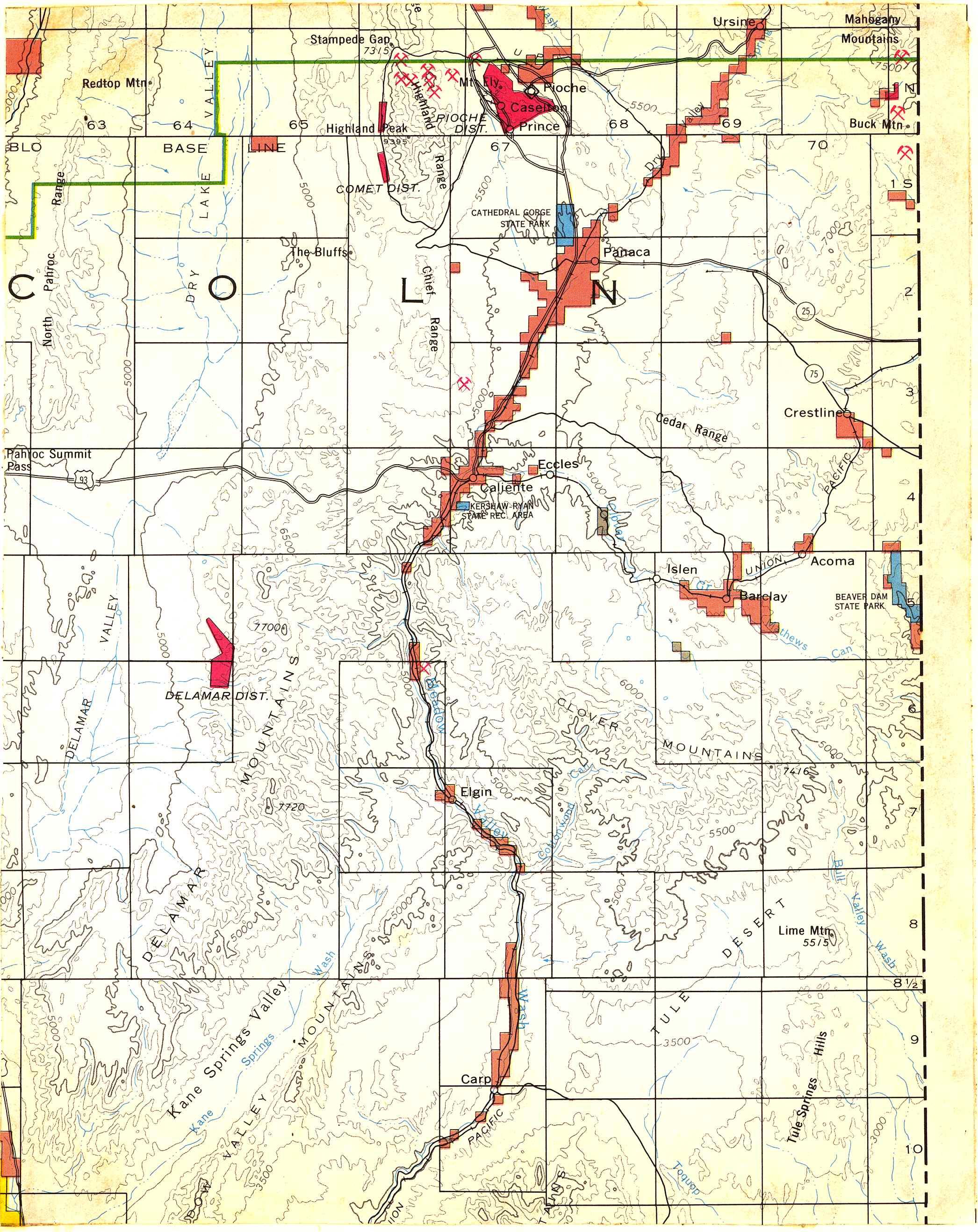 Map [2] 37:114 - Caliente - 1972