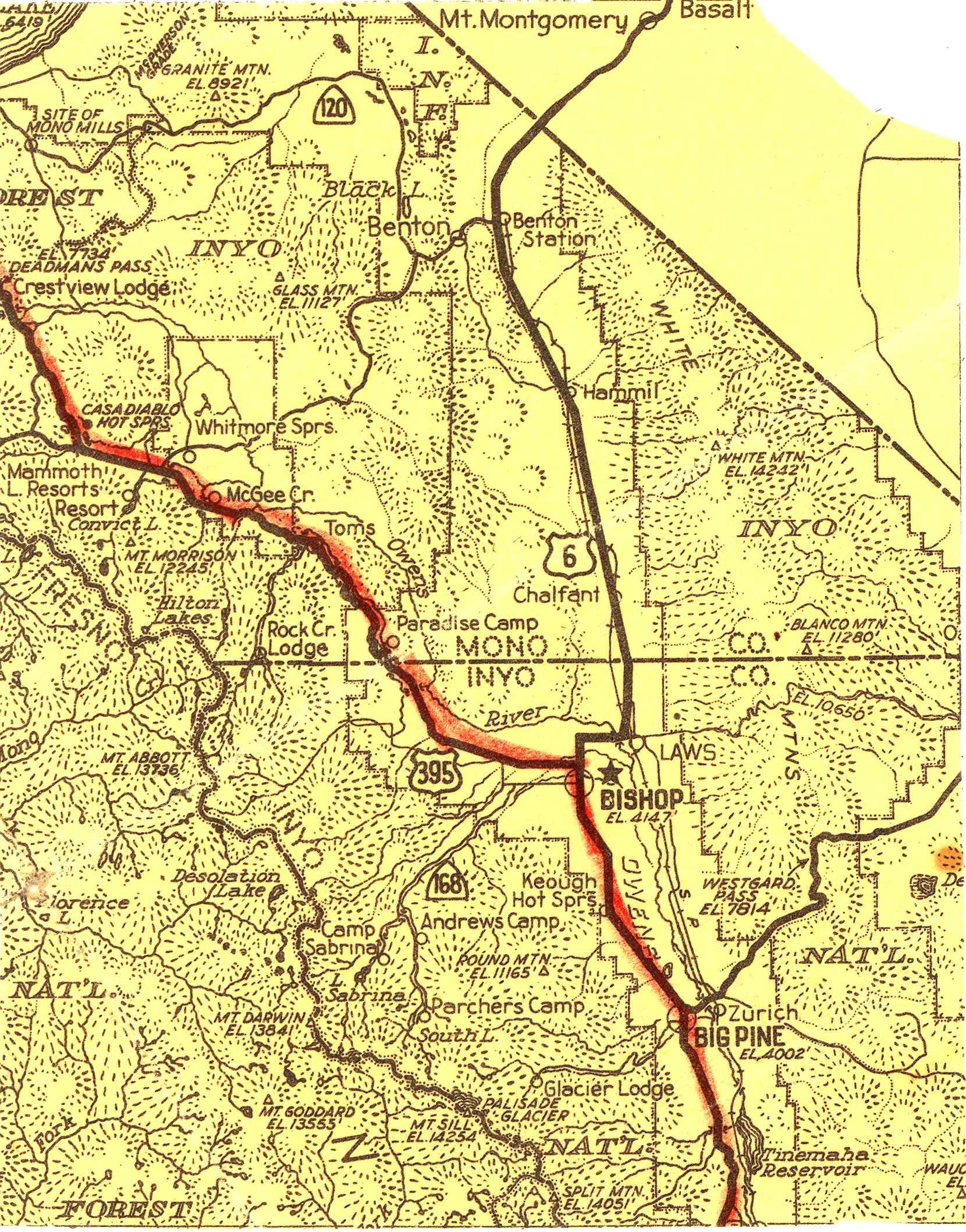 Map [2] 37:118 - Bishop - 1938