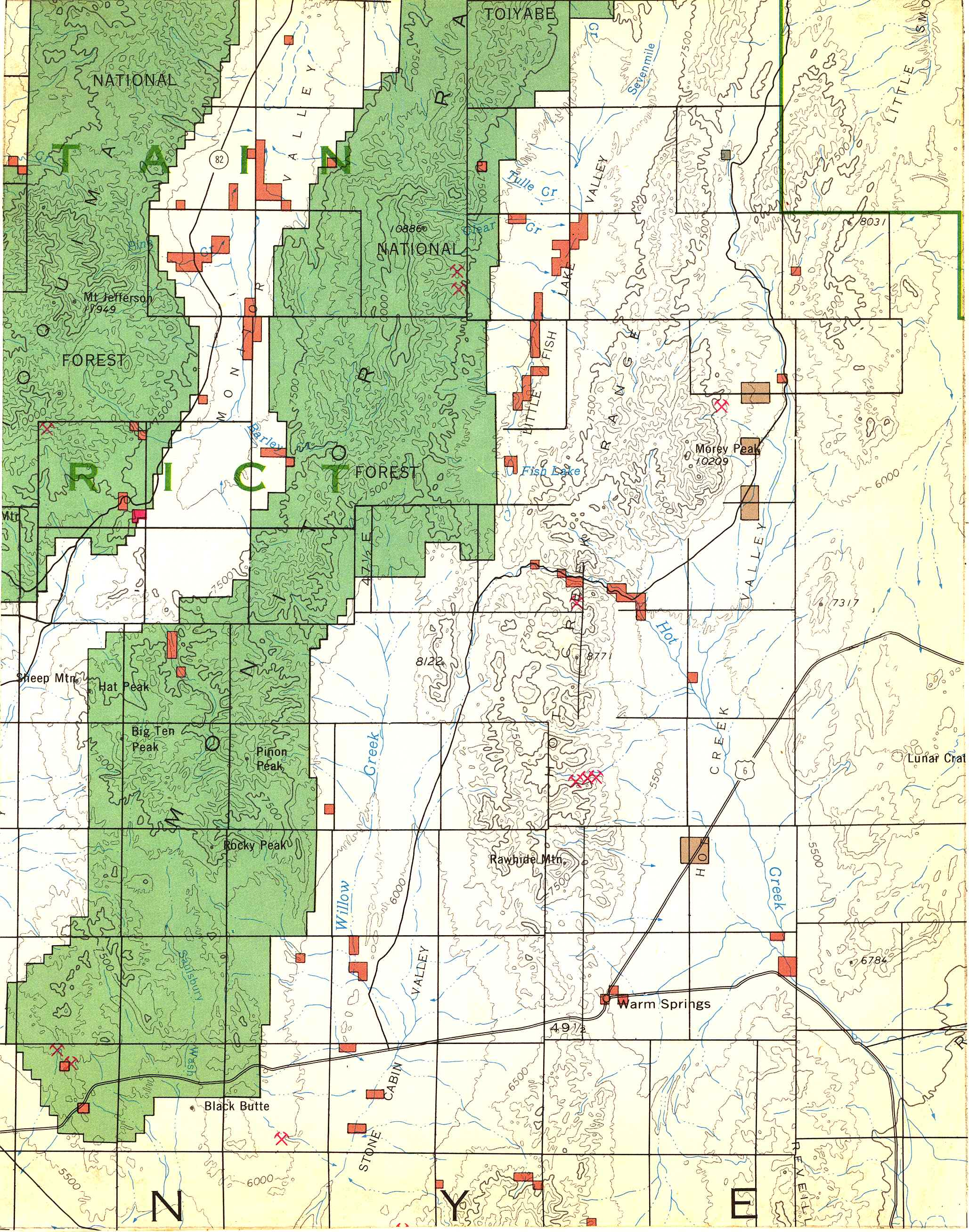 Map [2] 38:116 - Warm Springs - 1972