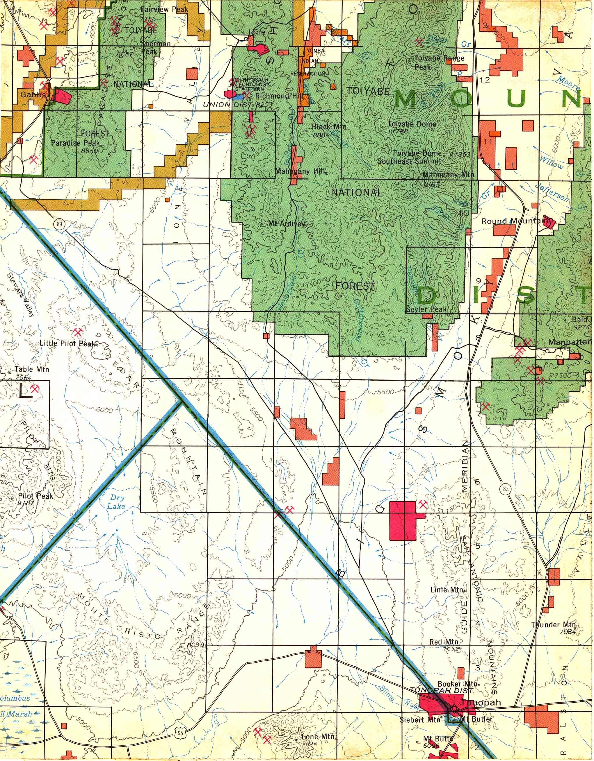 Map [2] 38:117 - Tonopah - 1972
