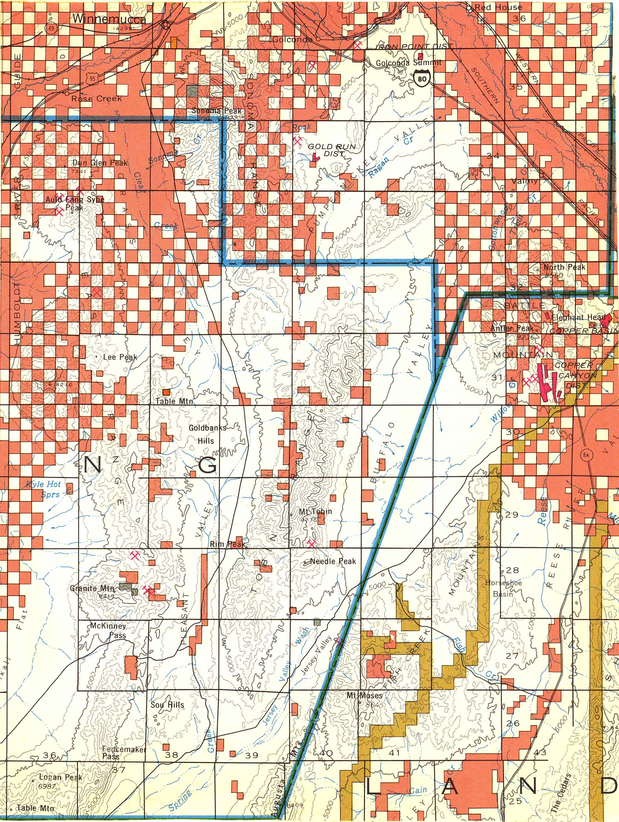 Map [2] 40:117 - Winnemmuca - 1972