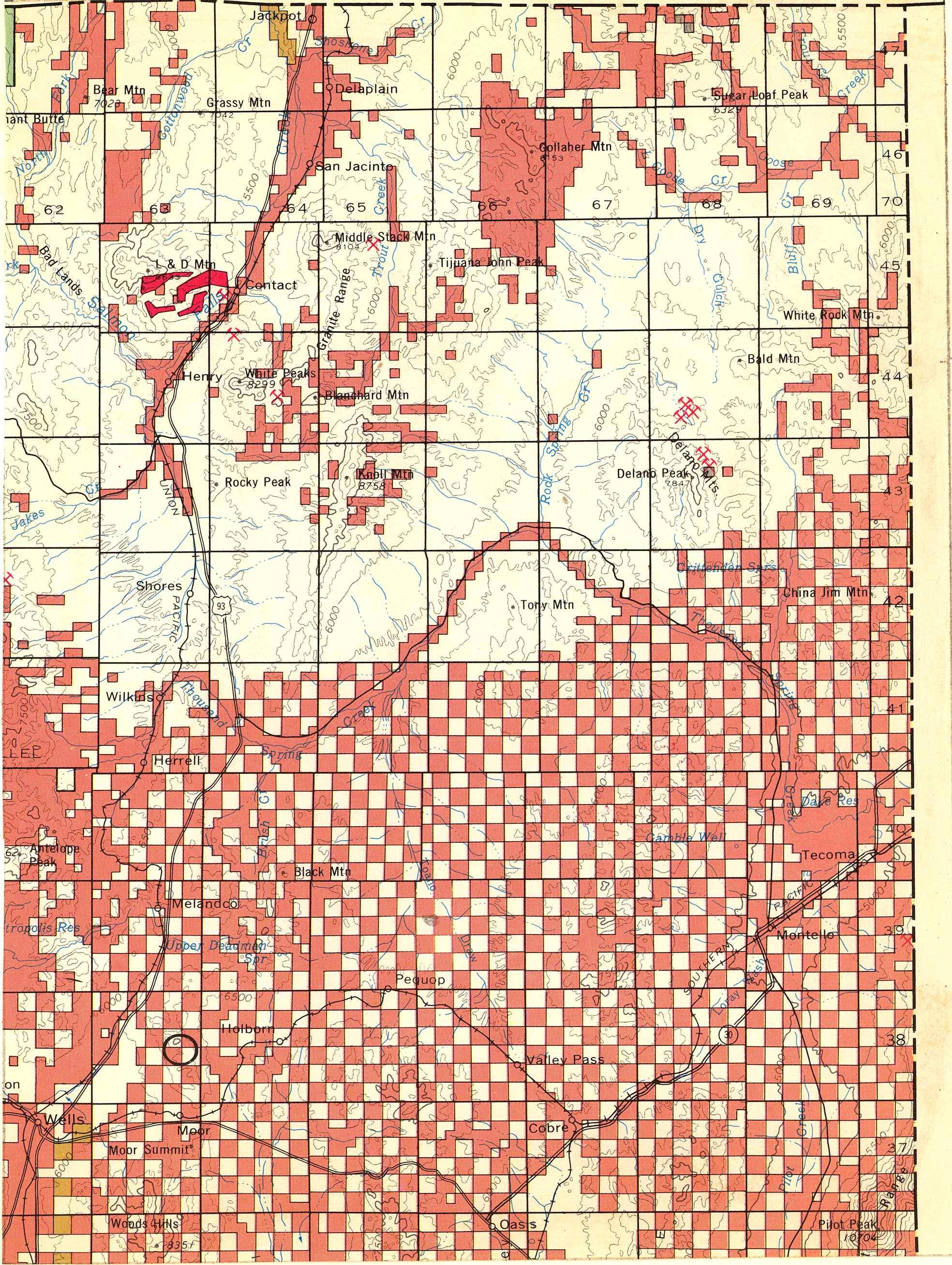 Map [2] 41:114 - Wells - 1972