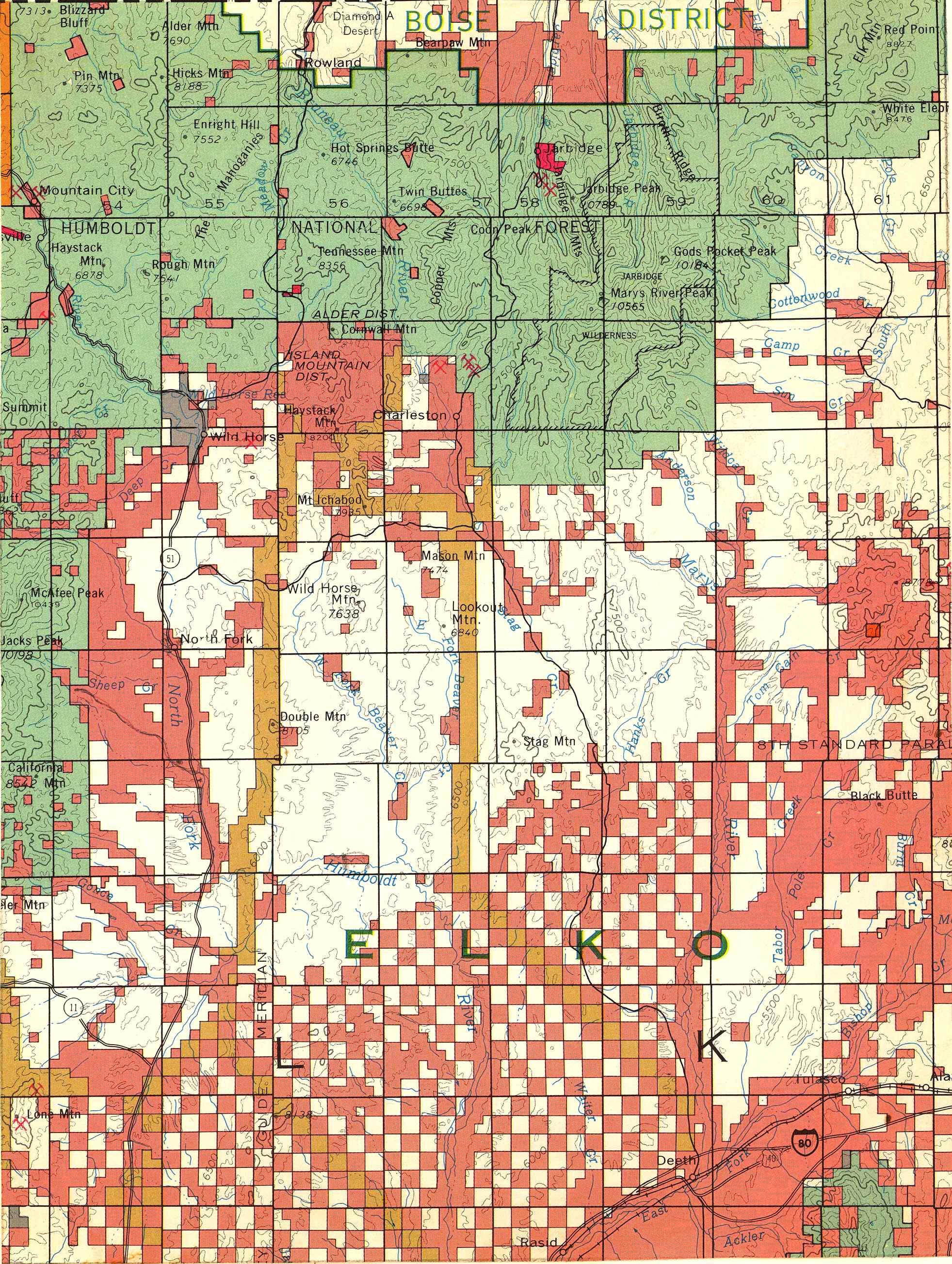 Map [2] 41:115 - Wild Horse - 1972