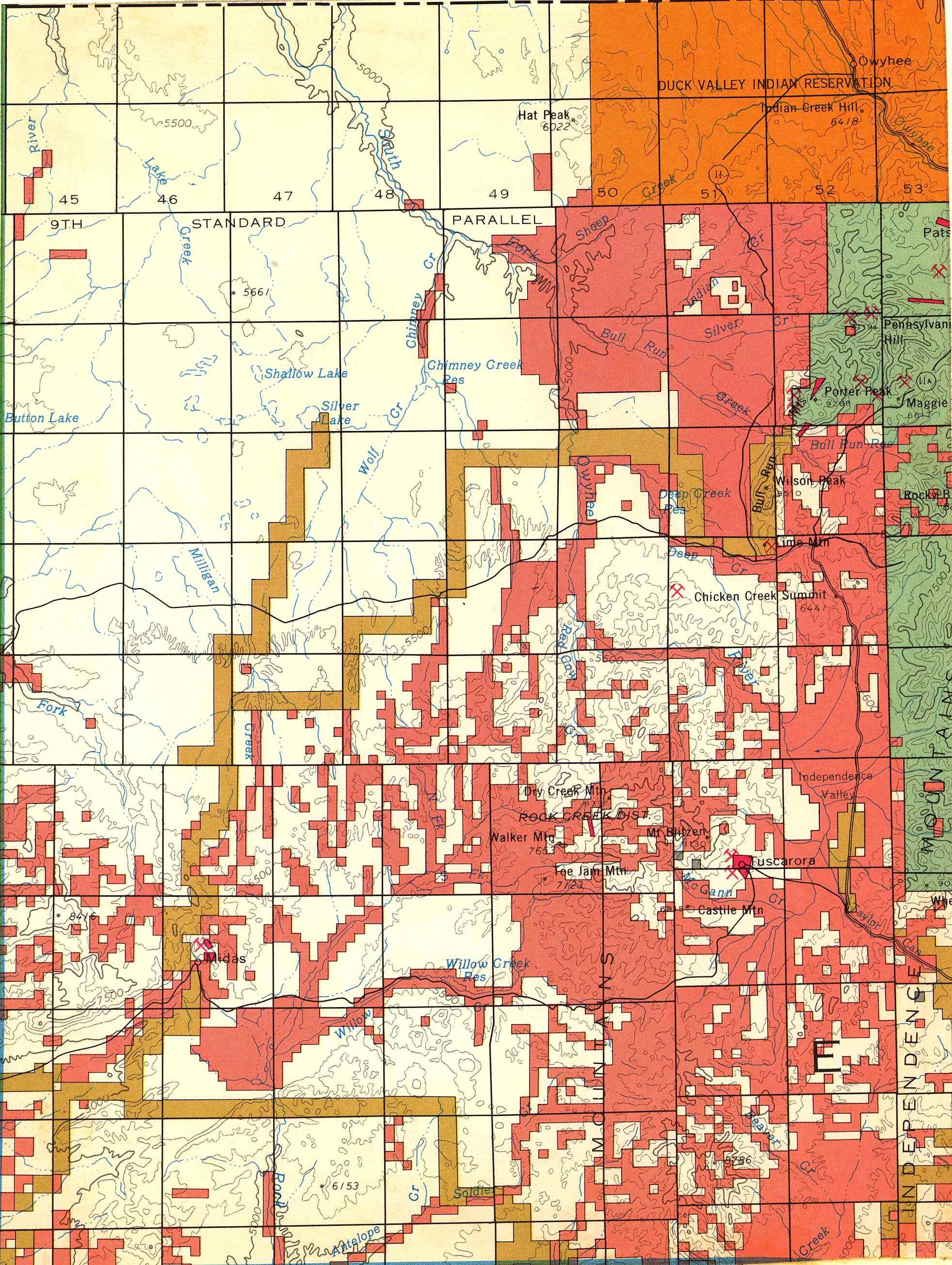 Map [2] 41:116 - Owyhee - 1972