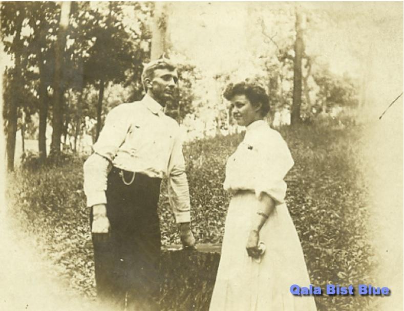 Alfin Backlund and Maude Cline circa 1904