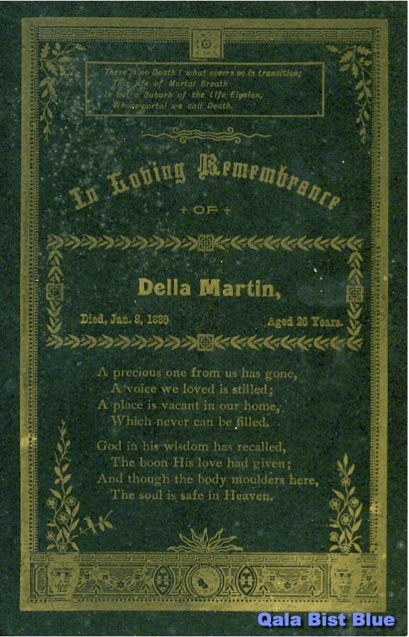Rosa Adelle Armstrong Martin Death Card