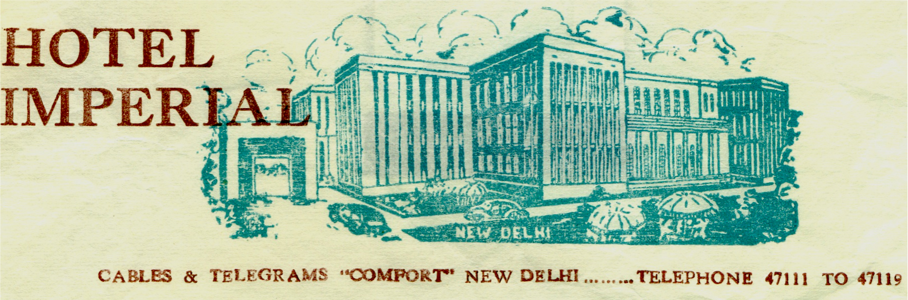 Hotel Imperial in 1958 - New Delhi, India
