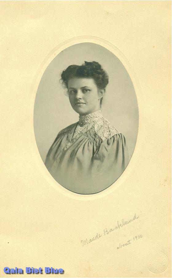 Maude Lee Cline portrait circa (about) 1905 - age ?21