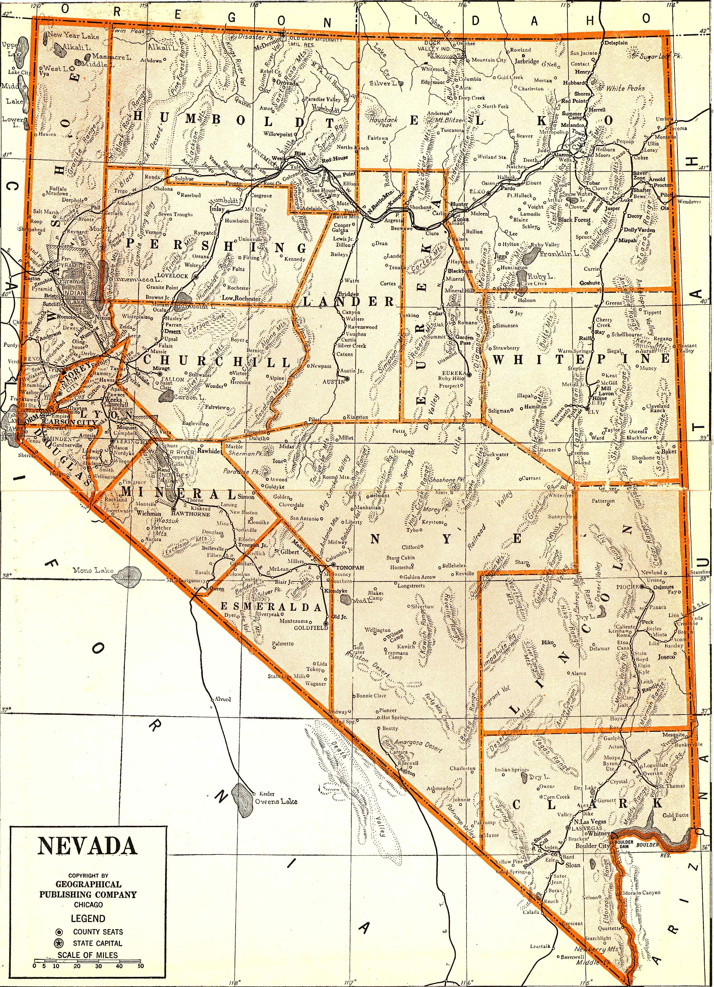 State Of Nevada Map Oregon Map - Map of nv