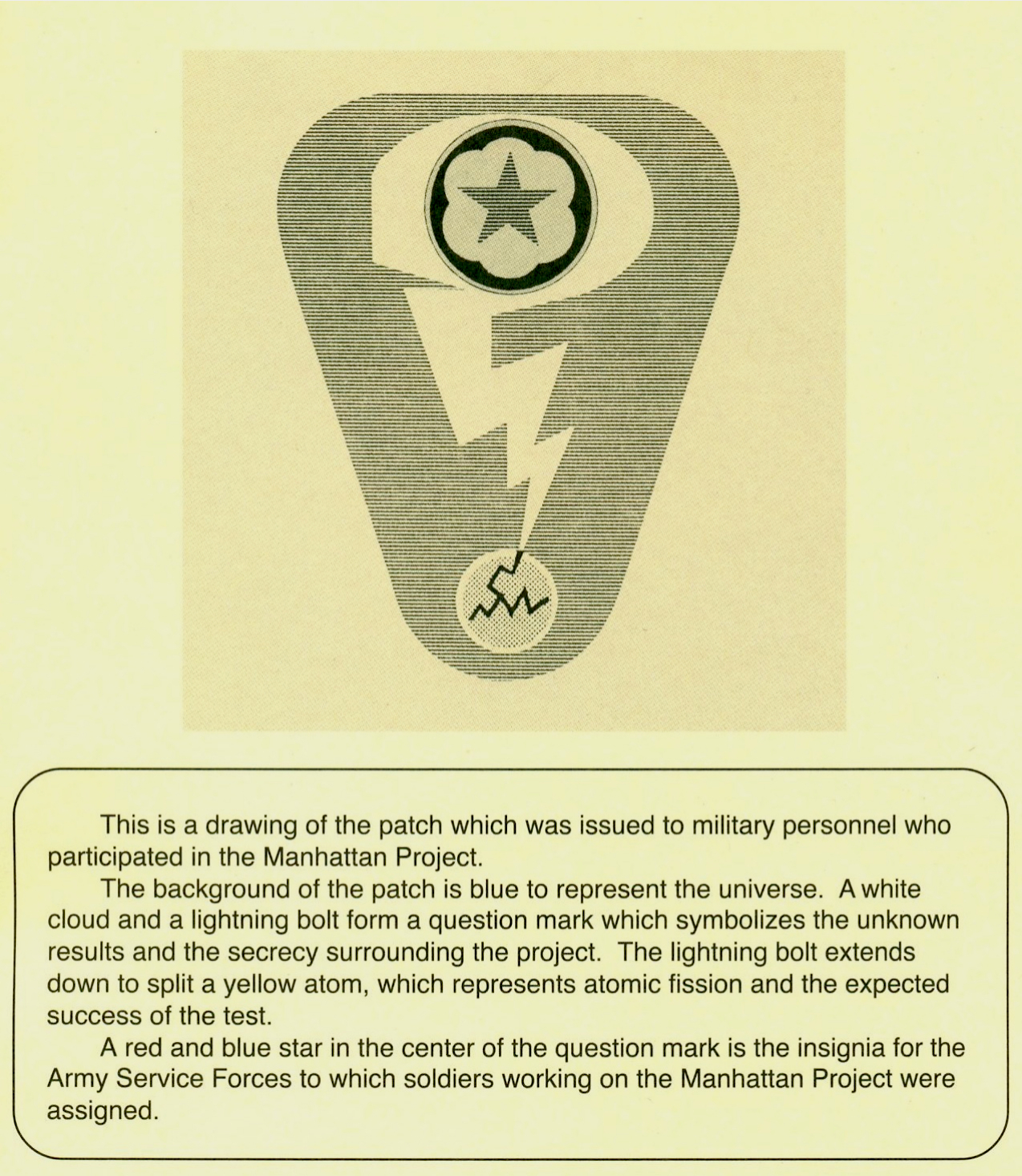 Flying tiger antiques online store: wwii manhattan project patch.