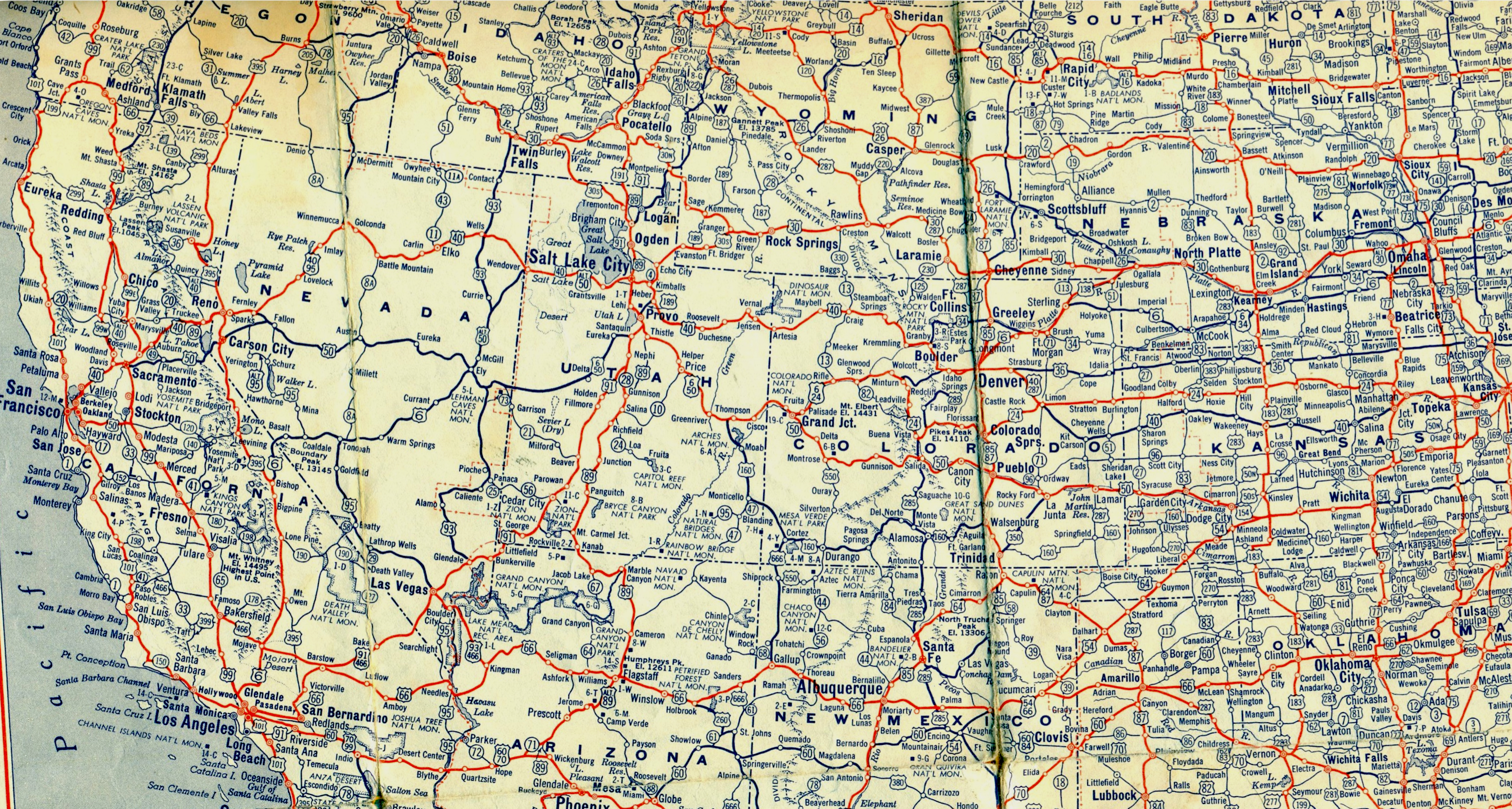This Map Shows The Ultimate US Road Trip Mental Floss Download - Interstate highway map of western us